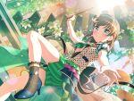 bang_dream! blush brown_hair dress drums green_eyes short_hair smile yamato_maya