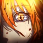 1girl bangs bcbcmmmmm blurry_foreground brown_eyes close-up eyebrows_visible_through_hair fate/grand_order fate_(series) fujimaru_ritsuka_(female) hair_between_eyes highres looking_at_viewer orange_hair solo tears