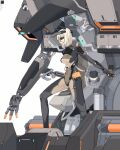 1girl blonde_hair breasts cockpit eyepatch from_side highres mecha medium_breasts open_hands original parted_lips science_fiction shineash short_hair