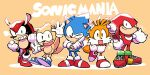 5boys animal_ears armadillo_ears clenched_hands commentary copyright_name fox_ears fox_tail full_body furry gloves grin hedgehog_ears highres index_finger_raised knuckles_the_echidna male_focus mighty_the_armadillo multiple_boys one_eye_closed rariatto_(ganguri) ray_the_flying_squirrel red_footwear shoes smile sneakers sonic sonic_mania sonic_the_hedgehog sonic_the_hedgehog_(classic) squirrel_ears squirrel_tail tail tails_(sonic) twitter_username white_gloves