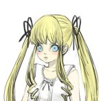 blue_eyes drill_hair long_hair mksm rozen_maiden shinku twintails
