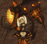 bottomless doll glowing glowing_eyes no_panties original robot robot_girl science_fiction scifi twintails