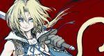 blonde_hair final_fantasy final_fantasy_ix kimimaru male male_only solo sword tail weapon zidane_tribal