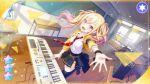 blonde_hair blush dress long_hair project_sekai red_eyes smile tenma_saki twintails
