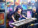 dress keyboard_(instrument) long_hair purple_hair shoujo_kageki_revue_starlight smile tomoe_tamao violet_eyes