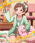 brown_hair character_name dress green_eyes idolmaster_million_live!_theater_days kinoshita_hinata short_hair smile