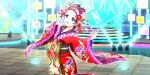 blush dress emma_verde green_eyes kimono long_hair love_live!_school_idol_festival_all_stars redhead smile wink