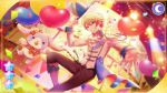 balloon blonde_hair jacket orange_hair project_sekai short_hair smile tenma_tsukasa