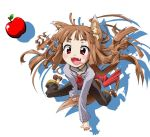 apple apples fangs food food_awe fruit holo spice_and_wolf tail tsukino_kitsune wolf_ears wolf_tail