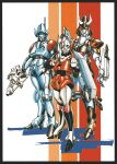 1980s_(style) 3girls arming_doublet armor army atac beam_rifle body_armor choujikuu_kidan_southern_cross commentary_request concealed_sword energy_gun faceplate gloves gmp helmet highres japanese_armor jeanne_francaix kabuto lana_isavia machinery mary_angel mecha military military_uniform multiple_girls oxygen_mask pilot pilot_suit power_suit radio_antenna retro_artstyle robotech scan science_fiction shadow shield shoulder_armor sketch soldier strap sword tasc thrusters traditional_media tube uniform weapon yui_yuasa_(yui1107)