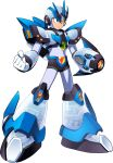 1boy android arm_cannon armor costume forehead_jewel gem gloves green_eyes helmet highres jetpack male_focus mizuno_keisuke official_art pauldrons robot rockman rockman_x shoulder_armor shoulder_pads solo third-party_source transparent_background weapon white_armor x_(rockman)