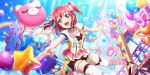 blush dress green_eyes kurosawa_ruby love_live!_school_idol_festival_all_stars pink_hair short_hair smile