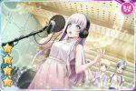 blush d4dj dress grey_eyes grey_hair izumo_saki long_hair smile