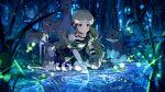 blue_eyes blush dress green_hair handa_roko idolmaster_million_live!_theater_days long_hair smile