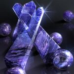 amethyst_(gemstone) ball black_background cluseller commentary_request crystal gem glint gradient gradient_background light_particles no_humans original partial_commentary reflection shiny simple_background still_life