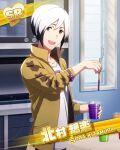 character_name dress idolmaster idolmaster_side-m kitamura_sora red_eyes short_hair smile white_hair