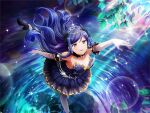 dress kochou_shizuha long_hair purple_hair shoujo_kageki_revue_starlight strapless_dress violet_eyes