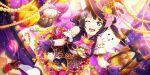 asaka_karin blue_eyes blue_hair blush dress halloween love_live!_school_idol_festival_all_stars short_hair smile wink