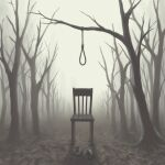 avogado6 bare_tree brown_theme chair no_humans noose original shoes tree
