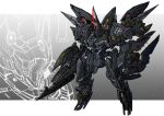 gun holding holding_gun holding_shield holding_weapon mecha no_humans one-eyed original red_eyes science_fiction shield solo standing takamaru_(taka1220) weapon zoom_layer