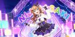 blush brown_hair dress konoe_kanata long_hair love_live!_school_idol_festival_all_stars smile violet_eyes
