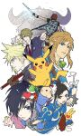 2019 blonde_hair blue_eyes bracelet buster_sword character_request chun-li cloud_strife crossover doseisan final_fantasy final_fantasy_vii gen_1_pokemon glowing glowing_sword glowing_weapon heart heisei highres jewelry katamari_damacy leon_magnus link multiple_crossover pikachu pointy_ears quadratus school_uniform shadow_of_the_colossus sidelocks spiked_bracelet spikes spiky_hair street_fighter tales_of_(series) tales_of_destiny the_legend_of_zelda the_legend_of_zelda:_breath_of_the_wild the_prince_(katamari_damacy) trash_can wander weapon