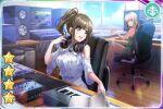 black_hair blush brown_eyes d4dj dress long_hair mizushima_marika ponytail