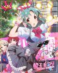 blue_hair blush character_name dress idolmaster_million_live!_theater_days red_eyes short_hair tokugawa_matsuri