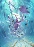 claws clouds commentary_request day full_body gen_7_pokemon golisopod highres incoming_attack looking_at_viewer no_humans outdoors pokemon pokemon_(creature) shiny sky solo star-shaped_pupils star_(symbol) supearibu symbol-shaped_pupils water water_drop