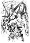 1boy gainax highres imaishi_hiroyuki king_kittan kittan_bachika mecha official_art scan sketch spiral_eyes spiral_warrior standing tengen_toppa_gurren_lagann