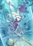 claws clouds commentary day full_body gen_7_pokemon golisopod highres incoming_attack looking_at_viewer no_humans outdoors pokemon pokemon_(creature) shiny sky solo star-shaped_pupils star_(symbol) supearibu symbol-shaped_pupils water water_drop