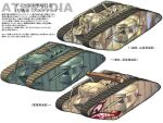 caterpillar_tracks commentary_request ground_vehicle gun highres jiro_morisaki machine_gun mark_i_tank military military_vehicle motor_vehicle no_humans original tank translation_request weapon white_background