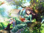 dress hat hoshimi_junna long_hair purple_hair shoujo_kageki_revue_starlight smile violet_eyes
