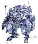 dated highres jnt looking_down mecha no_humans original radio_antenna science_fiction simple_background sketch standing white_background