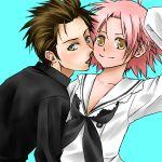 kogami_akira lucky_star oversized_clothes pink_hair shiraishi_minoru yellow_eyes