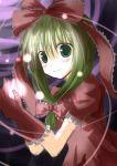 front_ponytail gloves green_eyes green_hair hair_bow kagiyama_hina mashayuki sketch touhou