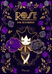 black_background character_name closed_eyes commentary_request creature crossed_legs ekm facing_viewer flower french_text full_body gen_3_pokemon highres no_humans number pokedex_number pokemon pokemon_(creature) rose roselia simple_background solo standing