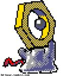 3d 3dbear blender_(medium) commentary creature english_commentary full_body gen_7_pokemon looking_at_viewer lowres meltan mythical_pokemon no_humans pixel_art pokemon pokemon_(creature) solo standing transparent_background watermark web_address