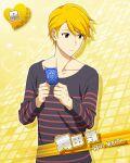 blonde_hair character_name dress idolmaster idolmaster_side-m maita_rui red_eyes short_hair smile