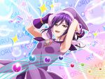 armpits bang_dream! dress long_hair purple_hair red_eyes seta_kaoru smile