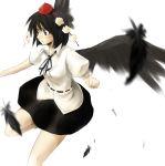 black_hair feathers hat mio_(artist) mio_(rominuato) shameimaru_aya short_hair touhou wings