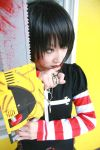 asian black_lagoon chainsaw cosplay emo female girl goth gothic omi_gibson photo plaid pleated_skirt punk sawyer_the_cleaner striped women