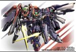 beam_saber character_name chibi energy_gun green_eyes gun gundam highres holding holding_gun holding_sword holding_weapon looking_at_viewer looking_down mecha no_humans phoenix_gundam phoenix_zero sd_gundam sd_gundam_g-generation shoulder_cannon sibelurabbi sword tornado_gundam v-fin visor weapon