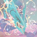 8r00t4l clouds commentary dragon eastern_dragon english_commentary gen_3_pokemon legendary_pokemon mega_pokemon mega_rayquaza pokemon rayquaza sky sparkle
