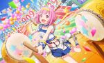 blush dress ootori_emu pink_eyes pink_hair project_sekai short_hair smile sports wink