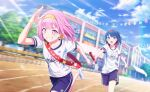 bloomers blush ootori_emu pink_eyes pink_hair project_sekai short_hair smile sports