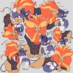adjusting_scarf animalization augustine_sycamore black_hair black_jacket buttons closed_mouth clothed_pokemon commentary_request face_licking fur-trimmed_jacket fur_trim gen_6_pokemon grey_background hand_in_pocket heart jacket kusuribe labcoat licking looking_at_another lysandre_(pokemon) meowstic meowstic_(male) no_humans orange_scarf outline pokemon pokemon_(creature) pyroar pyroar_(male) scarf simple_background sleepy smile standing translation_request zzz