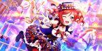 blush dress love_live!_school_idol_festival_all_stars nishikino_maki redhead short_hair smile violet_eyes wink