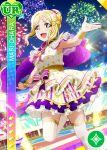 armpits blonde_hair blush character_name dress love_live!_school_idol_festival love_live!_sunshine!! ohara_mari short_hair smile yellow_eyes