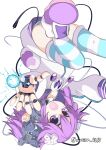 absurdres android dress highres joints mechanical_parts mechanization neptune_(neptune_series) neptune_(series) purple_dress purple_hair robonep robot robot_joints siroisa_4613 violet_eyes